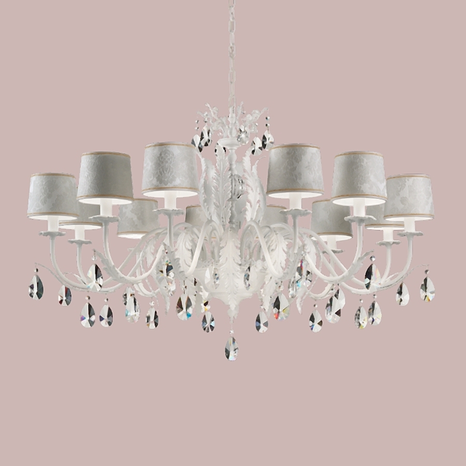 Acquista Angelis - lampadario di cristallo 12 luci, bianco