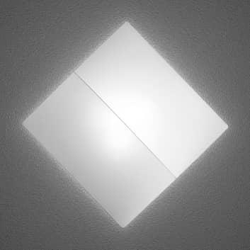 Nelly S - kwadratowa lampa ścienna z materiału