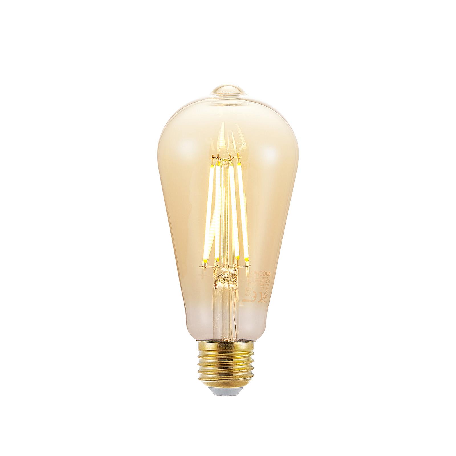 LED lamp E27 ST64 6,5W 2.500K amber 3-step-dimmer