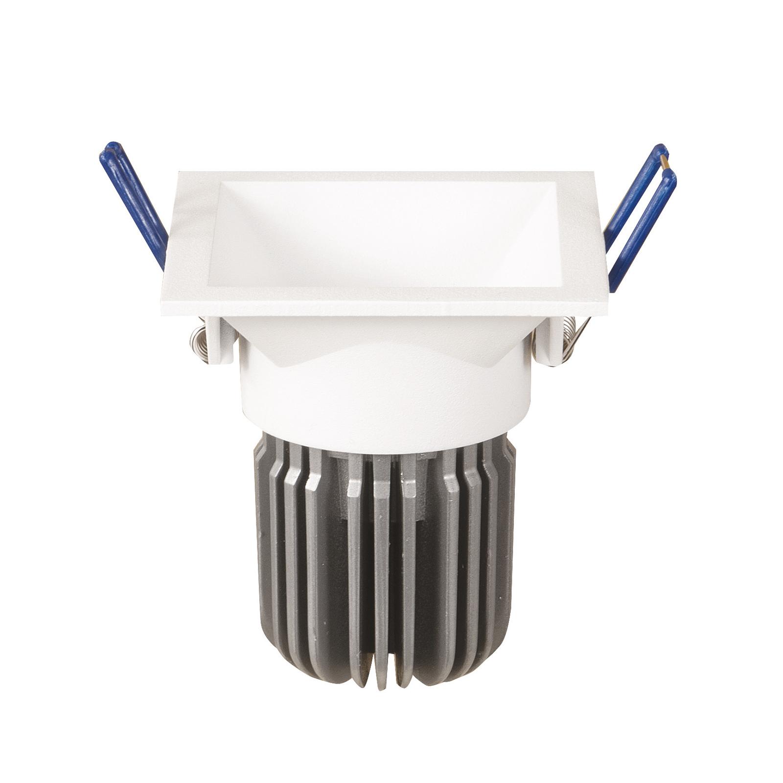 LED-Einbaulampe Toodle eckig symmetrisch, weiß