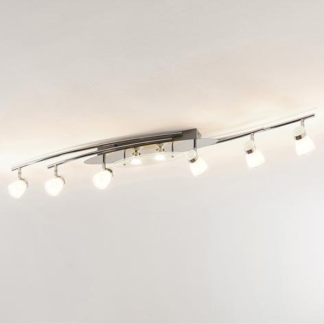 Lindby Danil faretto LED con paralumi di vetro