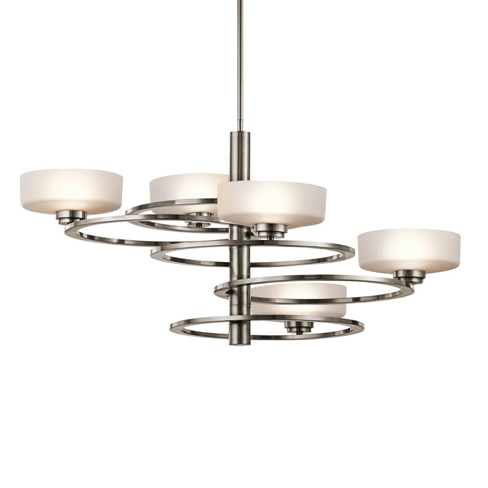LED hanglamp Aleeka 5-lamps, hoogte 43,8 cm
