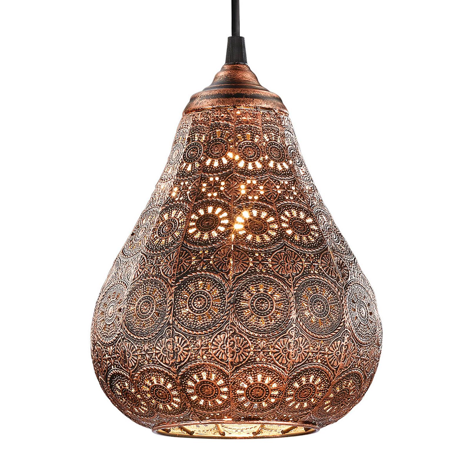 Color cobre lámpara colgante Jasmin