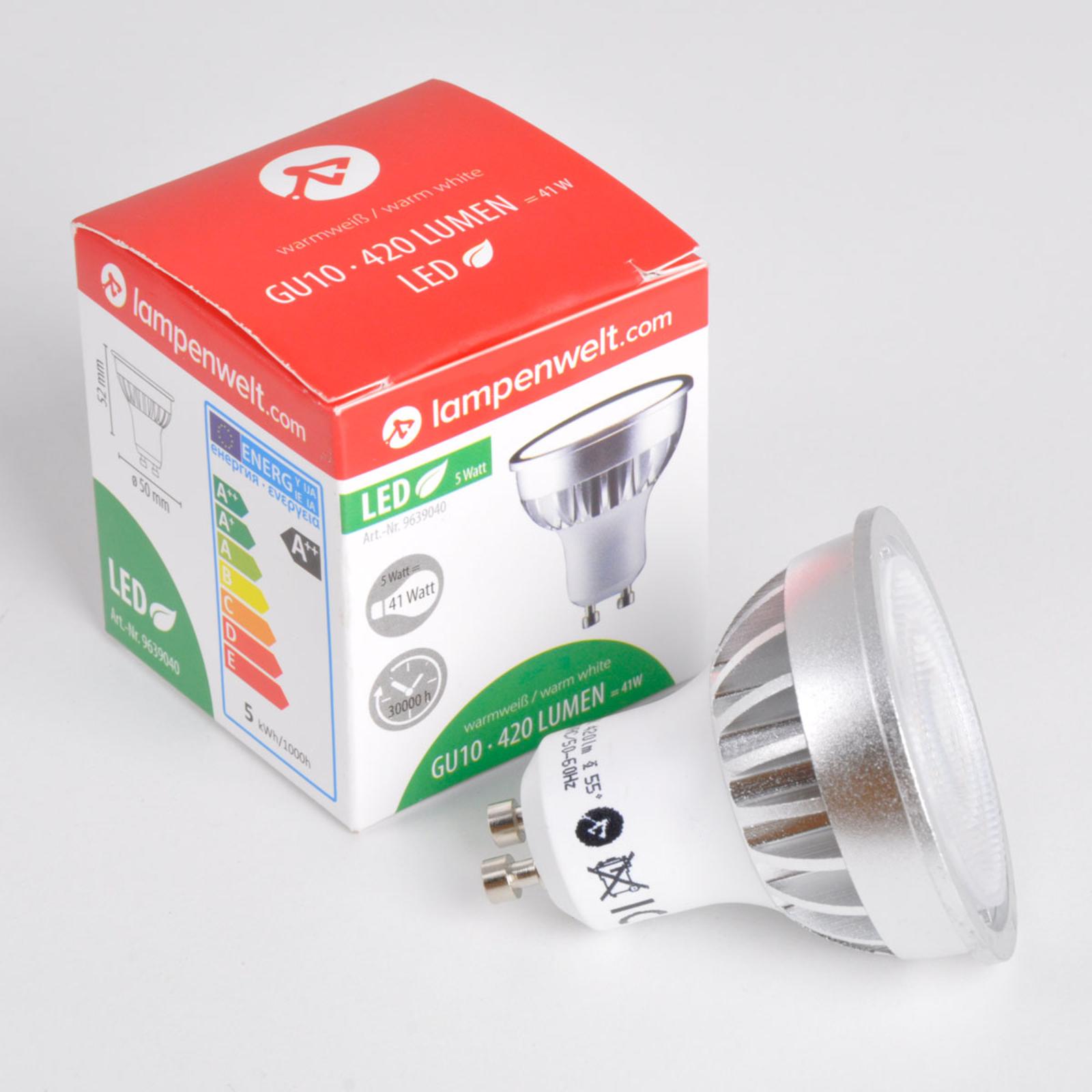GU10 5 W 830 LED reflektor 55°