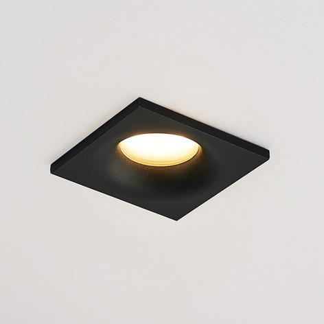 Arcchio Enia inbyggnadslampa, kantig, svart