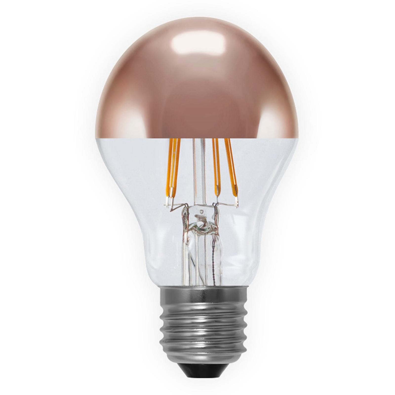 Lampadina a filamenti LED testa specchiata 926 E27
