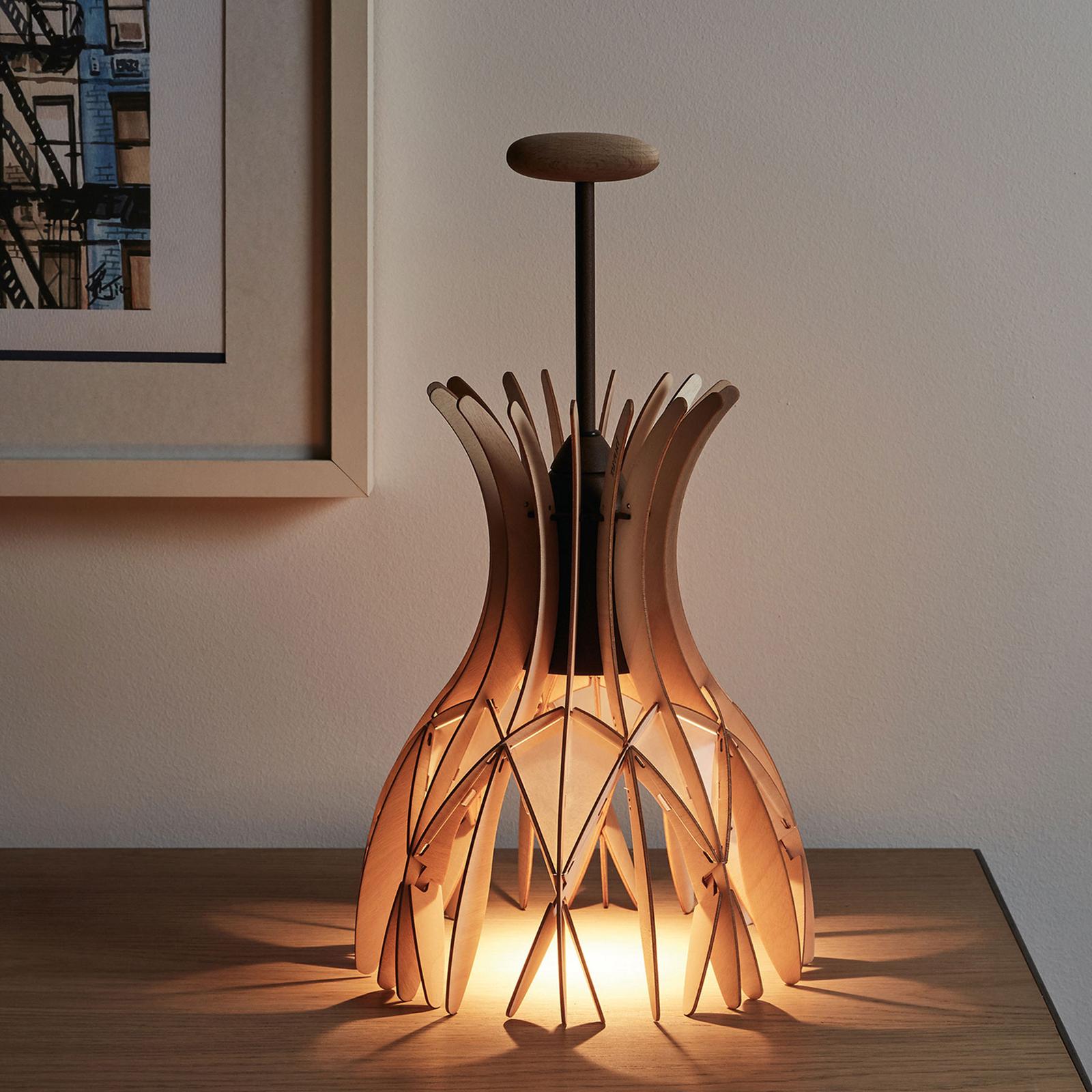 Bover Domita M/36 lampe à poser bois, brune/hêtre