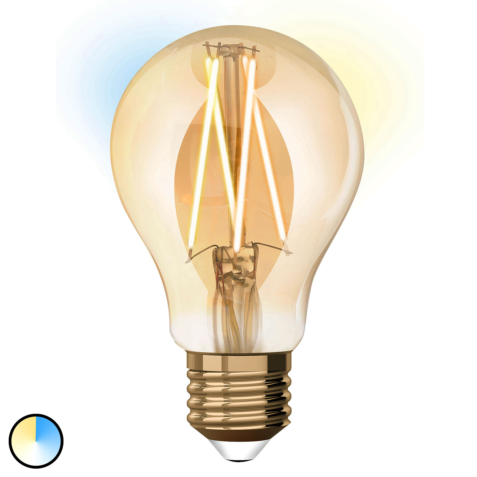 iDual żarówka filament LED E27 9W A60 rozbudowa