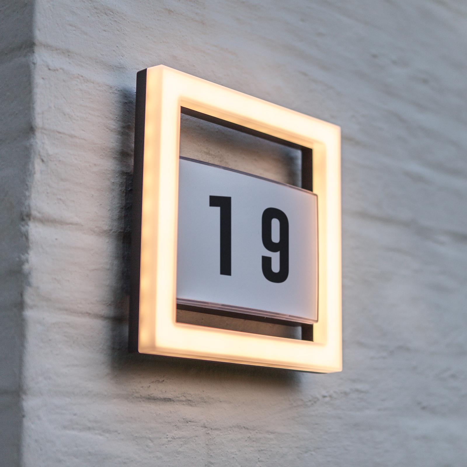LED-husnummerlampa Alice utan sensor