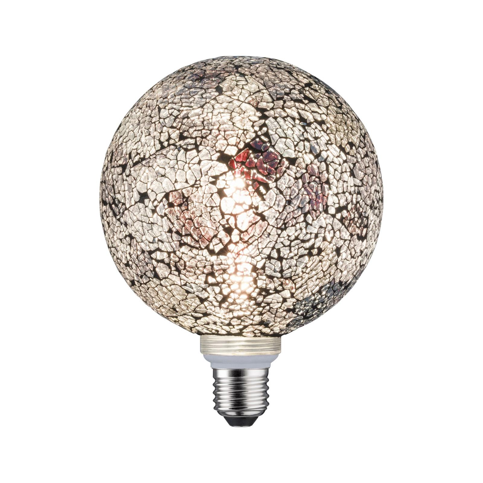 Paulmann E27 globe LED 5W Miracle Mosaic czarna