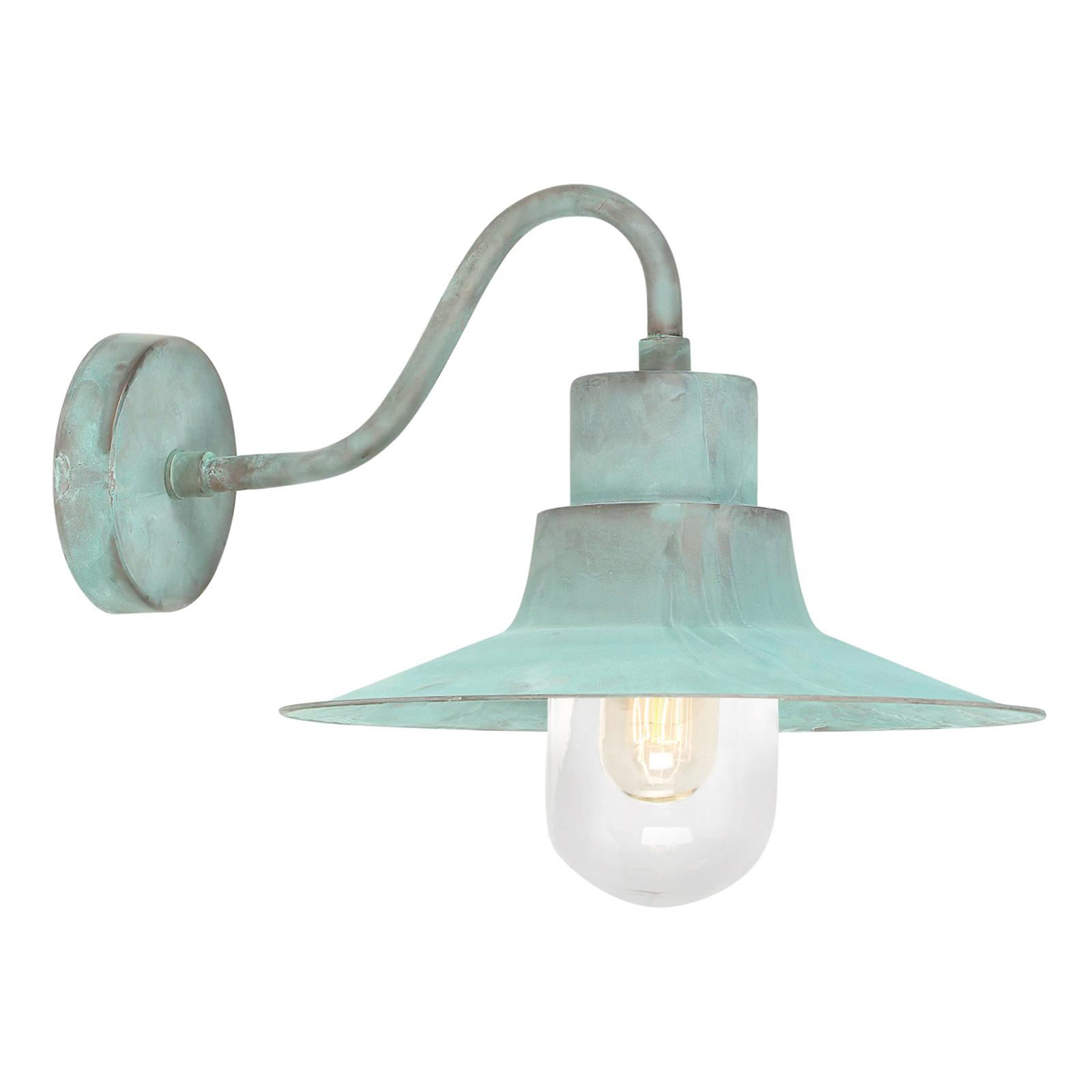 Sheldon - groen gepatineerde buitenwandlamp