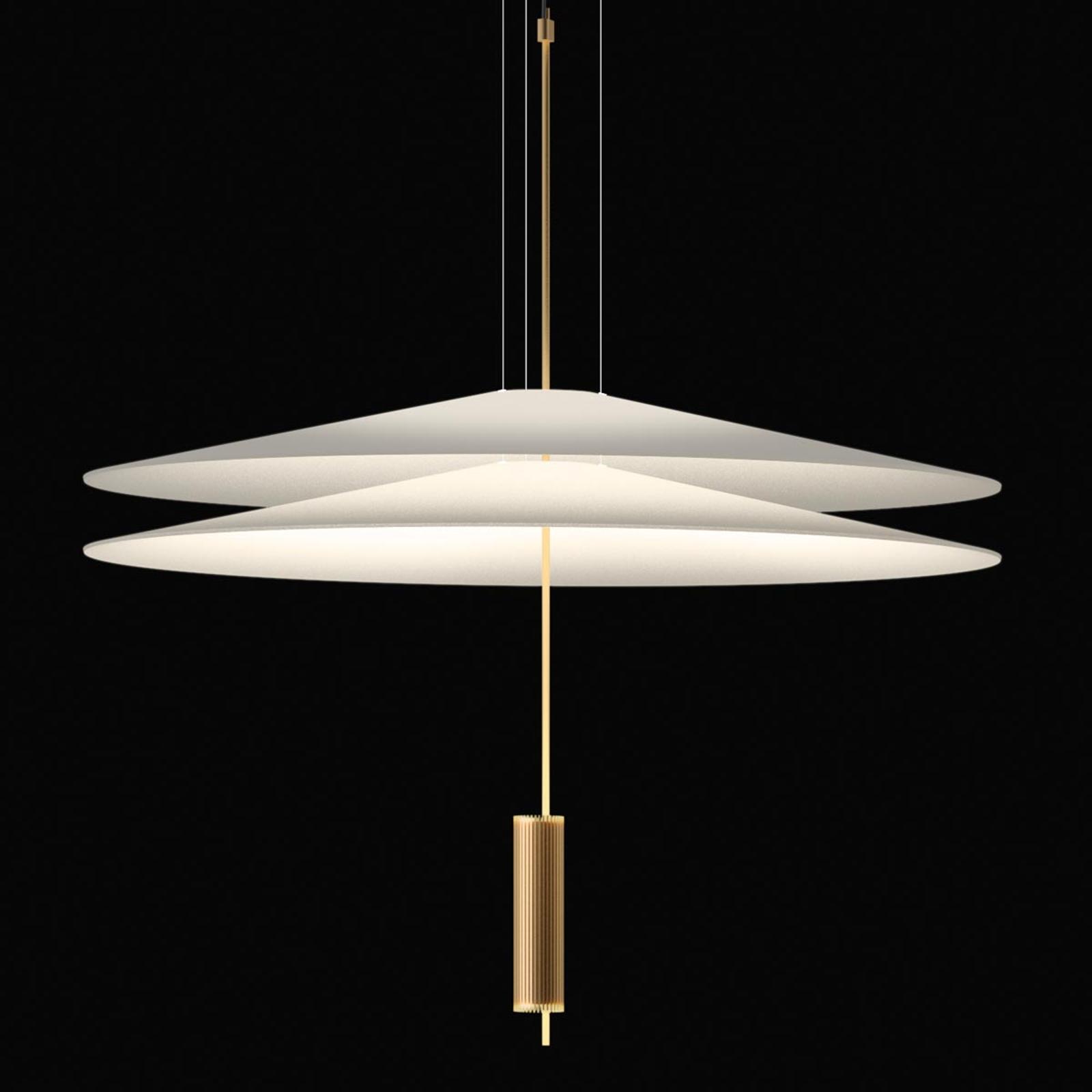 Vibia Flamingo - LED-Pendelleuchte 2 Schirme, gold